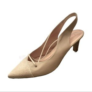 Hispanitas Beige Leather Heels Size  41 US 10